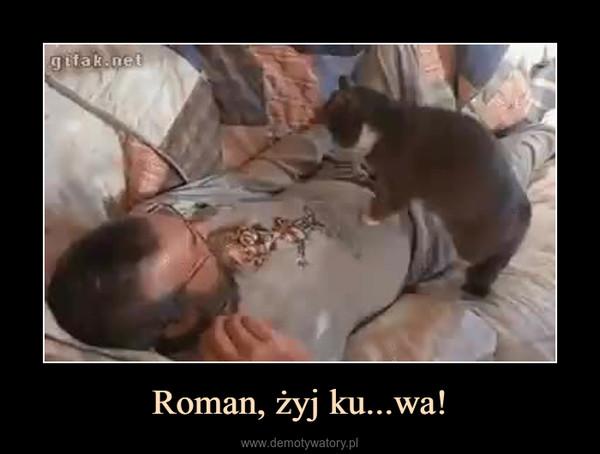Roman, żyj ku...wa! –
