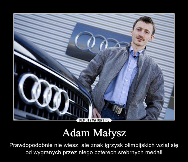 Adam Małysz – Prawdopodobnie nie wiesz, ale znak igrzysk olimpijskich wziął się od wygranych przez niego czterech srebrnych medali