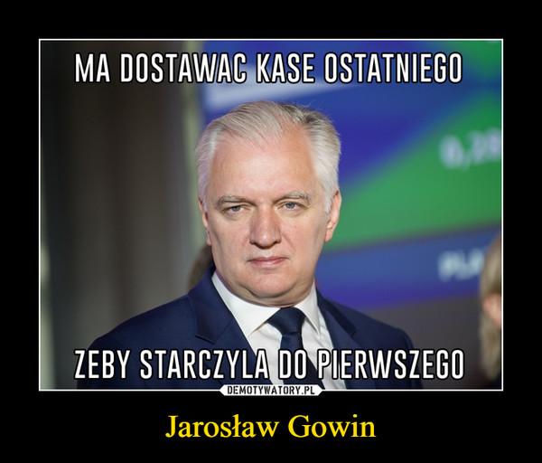 Jarosław Gowin –
