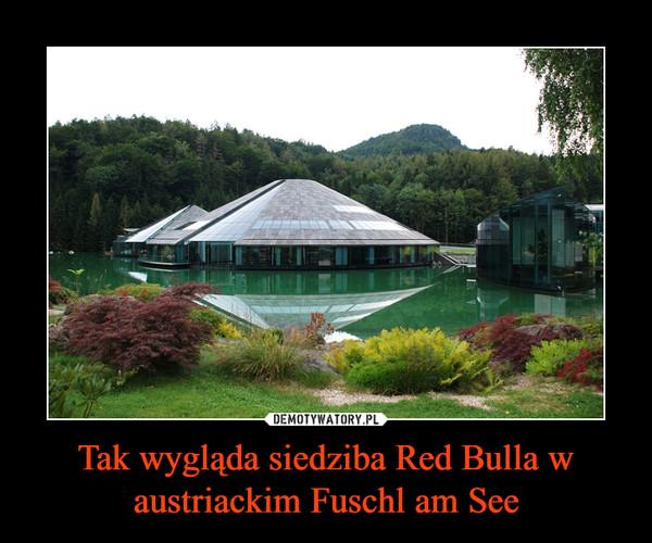 Tak wygląda siedziba Red Bulla w austriackim Fuschl am See –
