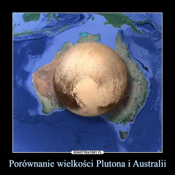 Porównanie wielkości Plutona i Australii –