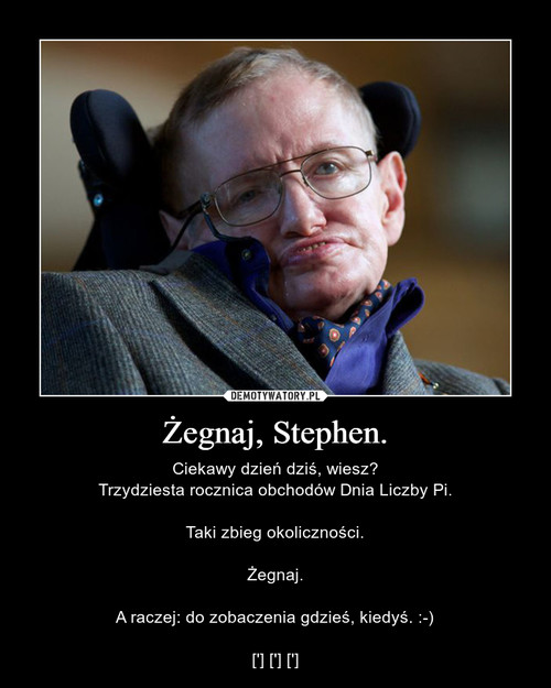 Żegnaj, Stephen.