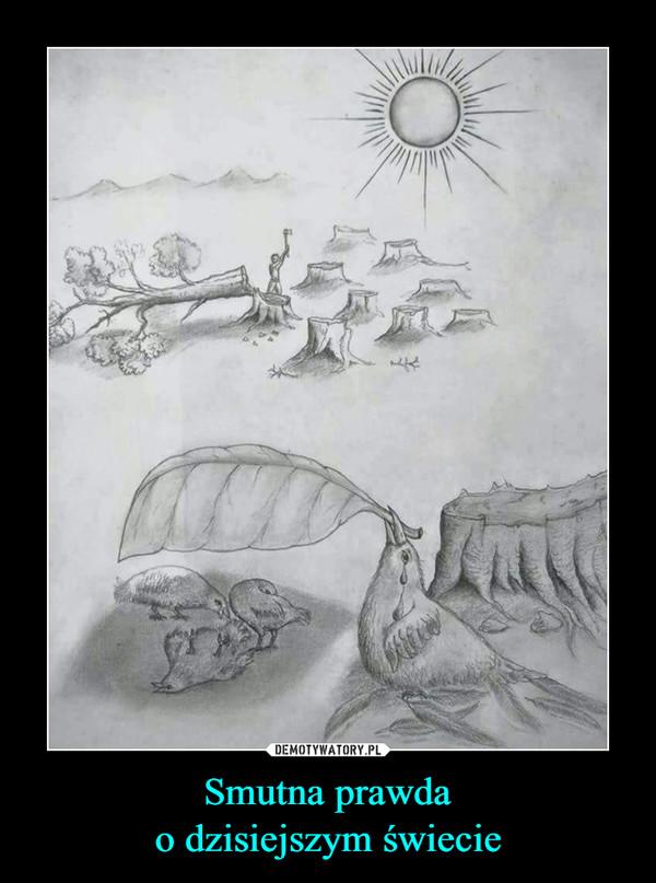 Smutna prawdao dzisiejszym świecie –