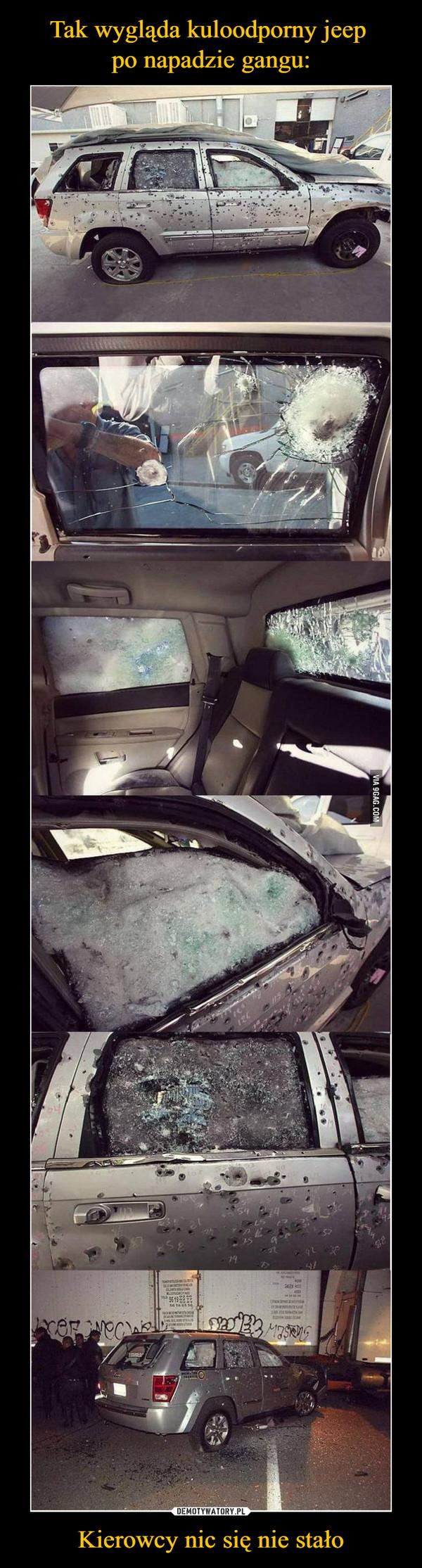 Kierowcy nic się nie stało –