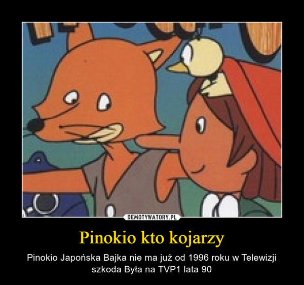 Pinokio kto kojarzy – Pinokio Japońska Bajka nie ma już od 1996 roku w Telewizji szkoda Była na TVP1 lata 90