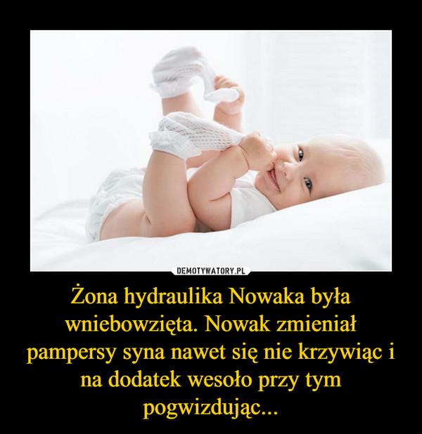 Żona hydraulika Nowaka była wniebowzięta. Nowak zmieniał pampersy syna nawet się nie krzywiąc i na dodatek wesoło przy tym pogwizdując... –