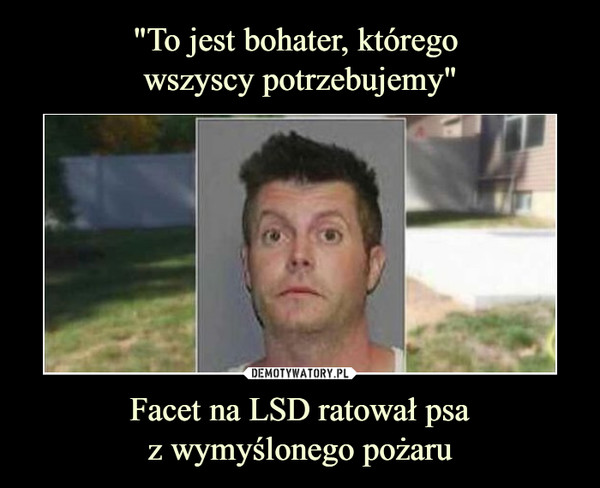 Facet na LSD ratował psaz wymyślonego pożaru –