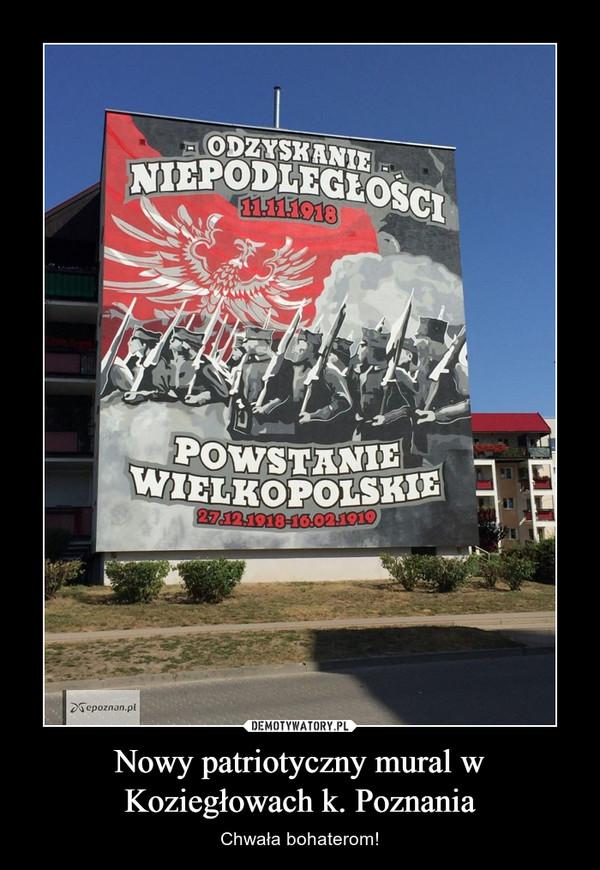 Nowy patriotyczny mural w Koziegłowach k. Poznania – Chwała bohaterom!