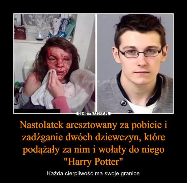 """Nastolatek aresztowany za pobicie i zadźganie dwóch dziewczyn, które podążały za nim i wołały do niego """"Harry Potter"""" – Każda cierpliwość ma swoje granice"""