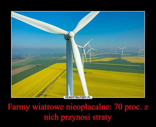 Farmy wiatrowe nieopłacalne: 70 proc. z nich przynosi straty