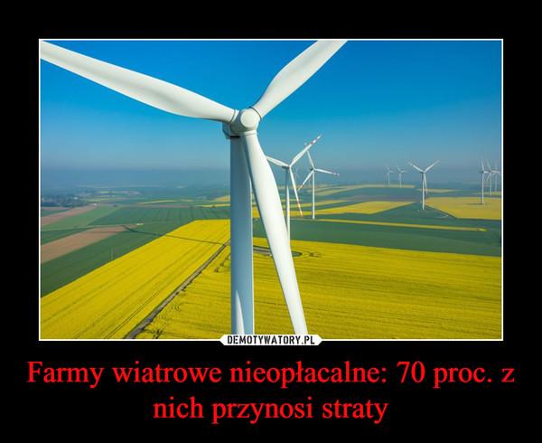 Farmy wiatrowe nieopłacalne: 70 proc. z nich przynosi straty –