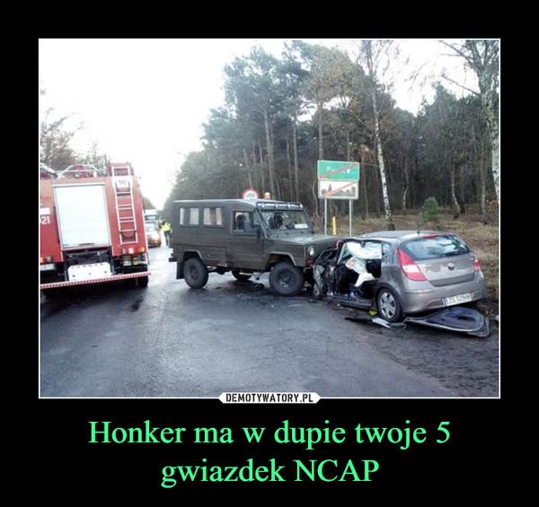 Honker ma w dupie twoje 5 gwiazdek NCAP –