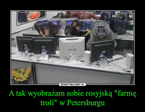 """A tak wyobrażam sobie rosyjską """"farmę troli"""" w Petersburgu"""