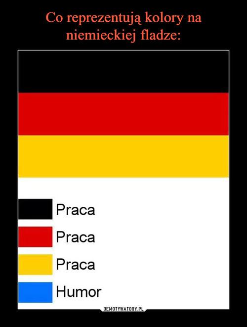 Co reprezentują kolory na niemieckiej fladze: