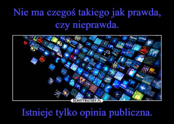 Istnieje tylko opinia publiczna. –