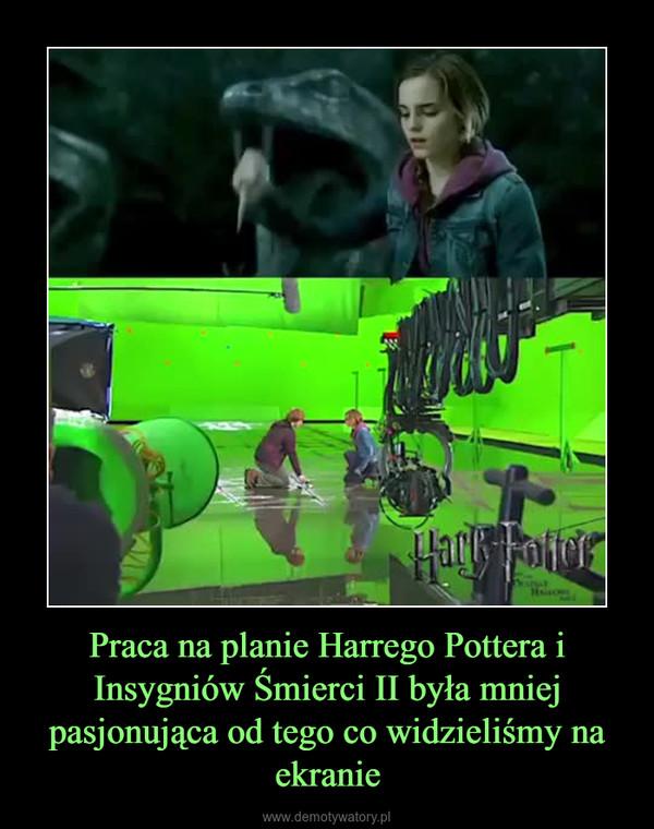 Praca na planie Harrego Pottera i Insygniów Śmierci II była mniej pasjonująca od tego co widzieliśmy na ekranie –