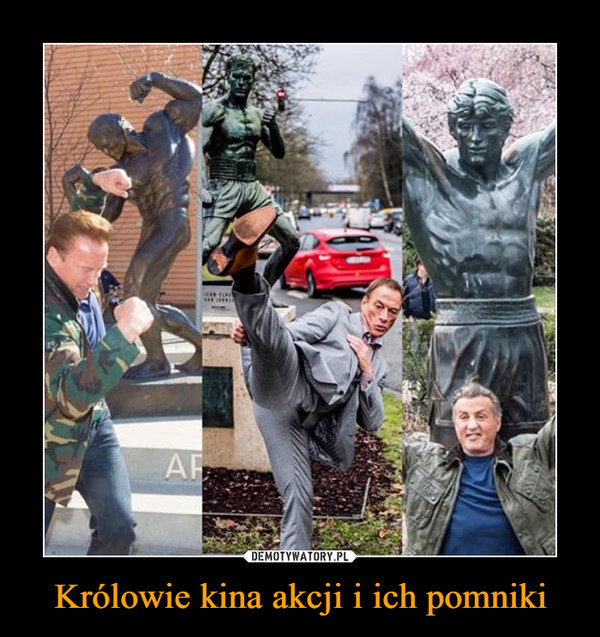 Królowie kina akcji i ich pomniki –