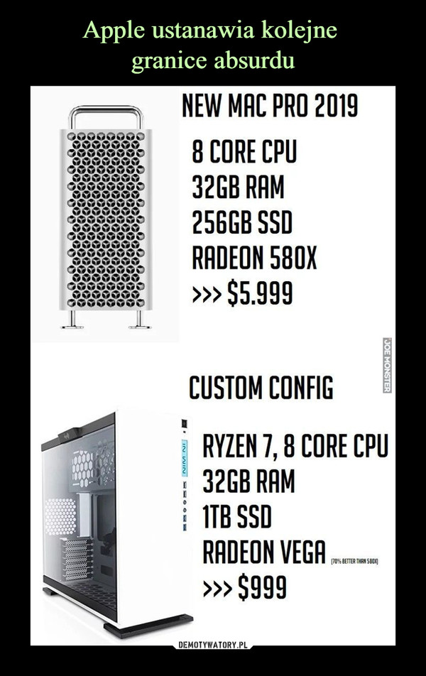 –  NEW MHC PRO 20198 CORE CPU32GB RAM25GGBSSDRRDEON 580X»> $5.999CUSTOM CONFIGRYZEN 7,8 CORE CPU32GB RRM1TB SSORRDEON VEGA»> $999