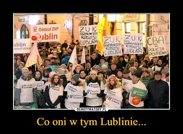 Co oni w tym Lublinie... –