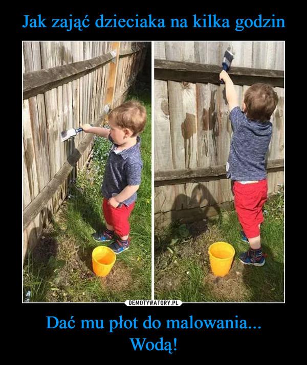 Dać mu płot do malowania...Wodą! –