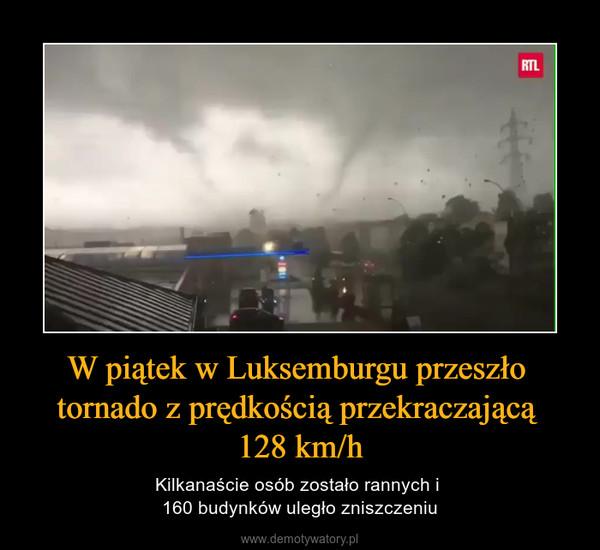 W piątek w Luksemburgu przeszło tornado z prędkością przekraczającą 128 km/h – Kilkanaście osób zostało rannych i 160 budynków uległo zniszczeniu