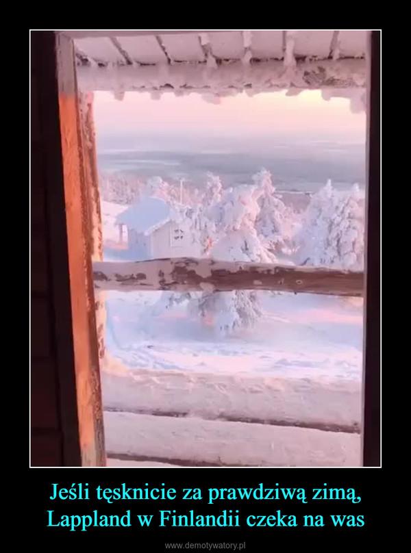 Jeśli tęsknicie za prawdziwą zimą, Lappland w Finlandii czeka na was –
