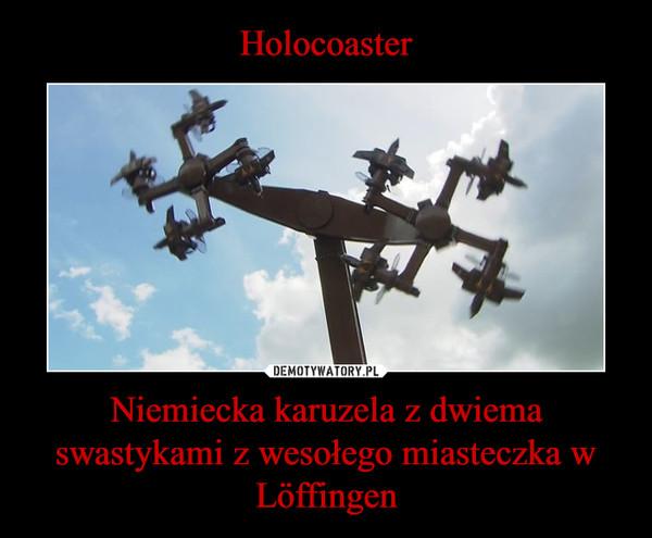 Niemiecka karuzela z dwiema swastykami z wesołego miasteczka w Löffingen –