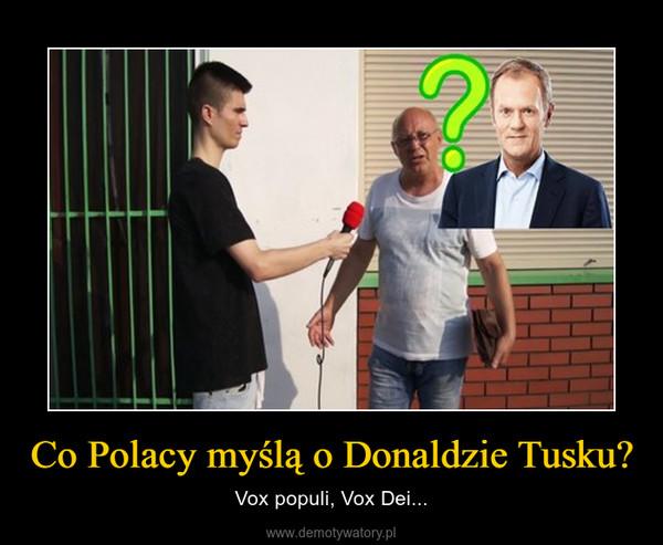 Co Polacy myślą o Donaldzie Tusku? – Vox populi, Vox Dei...