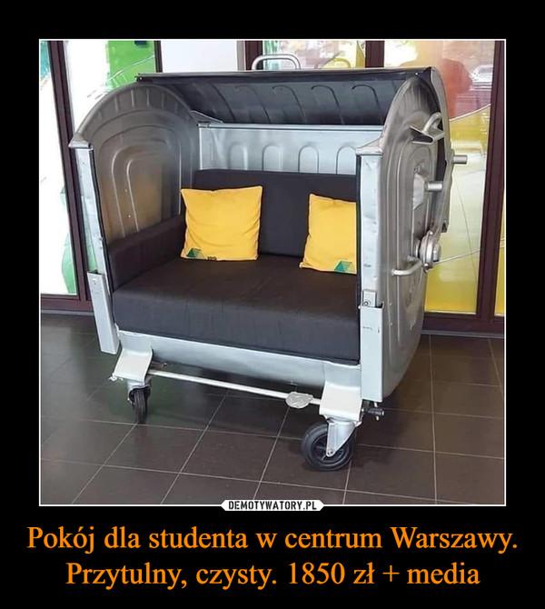 Pokój dla studenta w centrum Warszawy. Przytulny, czysty. 1850 zł + media –