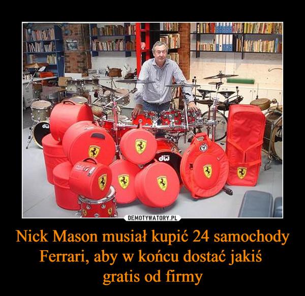 Nick Mason musiał kupić 24 samochody Ferrari, aby w końcu dostać jakiś gratis od firmy –