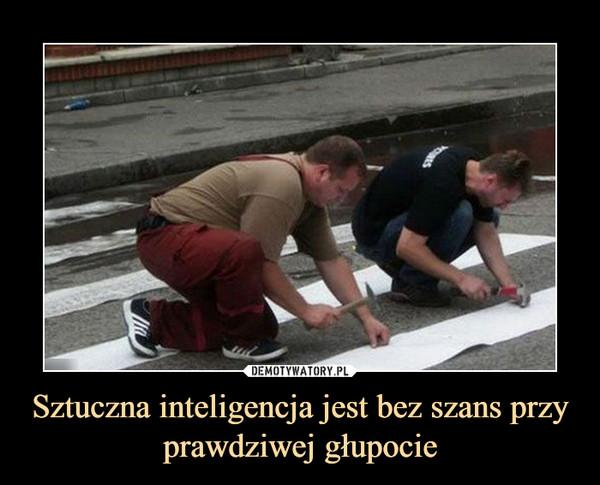 Sztuczna inteligencja jest bez szans przy prawdziwej głupocie –