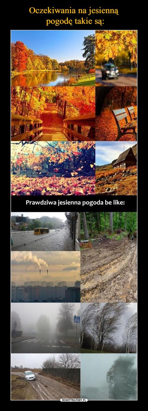 Oczekiwania na jesienną  pogodę takie są: