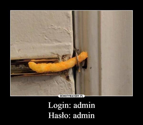 Login: adminHasło: admin –