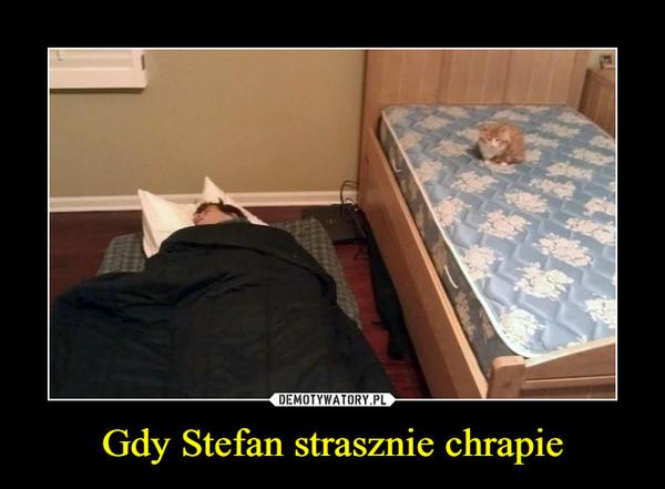 Gdy Stefan strasznie chrapie –
