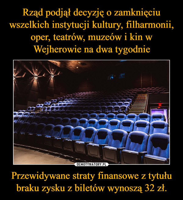 Przewidywane straty finansowe z tytułu braku zysku z biletów wynoszą 32 zł. –