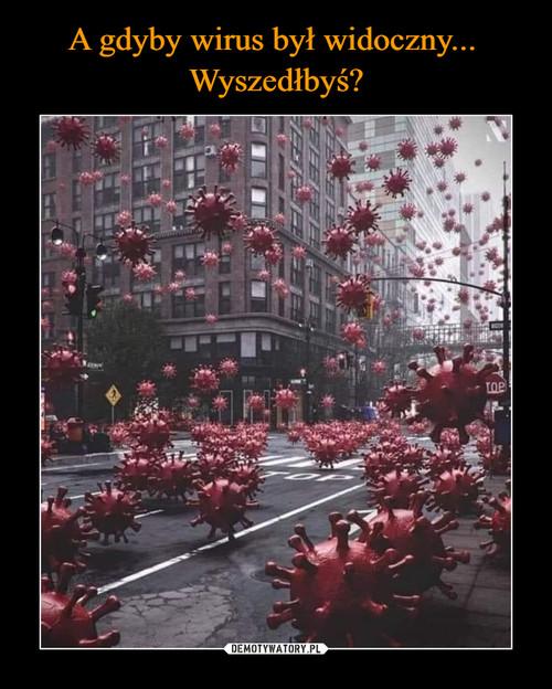 A gdyby wirus był widoczny...  Wyszedłbyś?