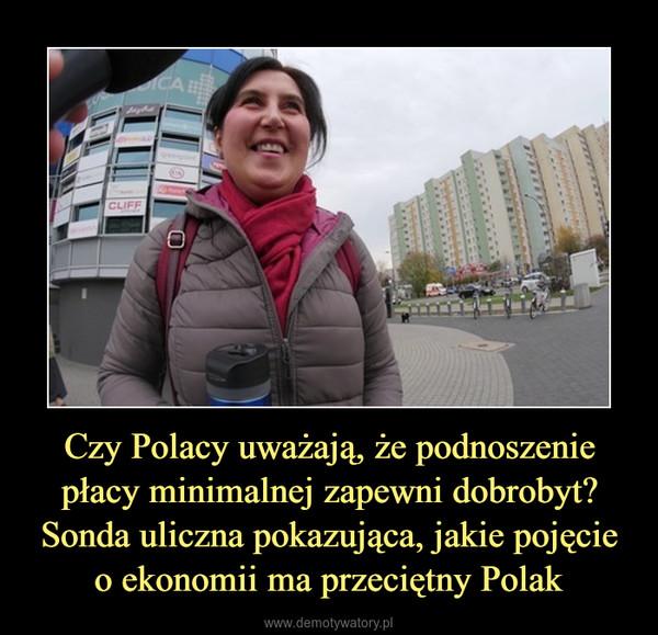 Czy Polacy uważają, że podnoszenie płacy minimalnej zapewni dobrobyt? Sonda uliczna pokazująca, jakie pojęcie o ekonomii ma przeciętny Polak –