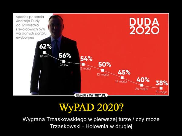 WyPAD 2020? – Wygrana Trzaskowskiego w pierwszej turze / czy może Trzaskowski - Hołownia w drugiej