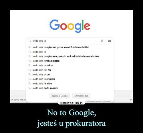 No to Google, jesteś u prokuratora