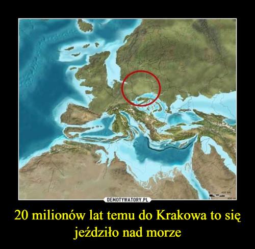 20 milionów lat temu do Krakowa to się jeździło nad morze