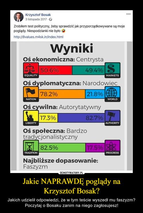 Jakie NAPRAWDĘ poglądy na Krzysztof Bosak?