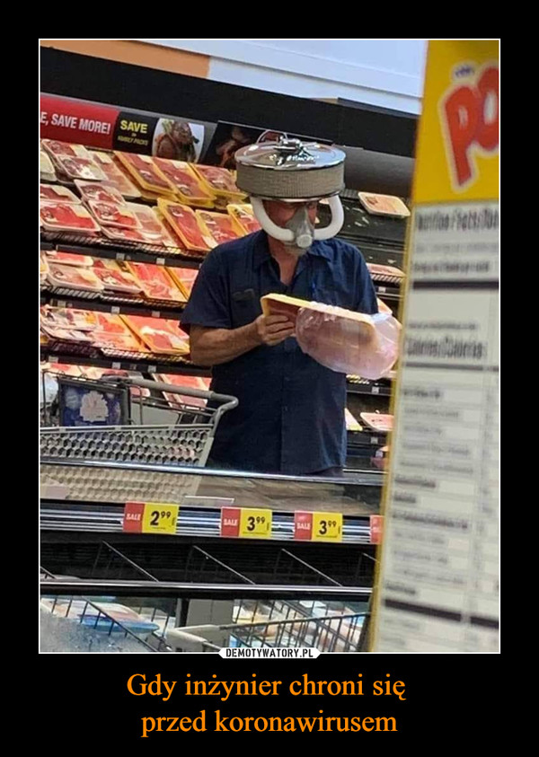 Gdy inżynier chroni się przed koronawirusem –