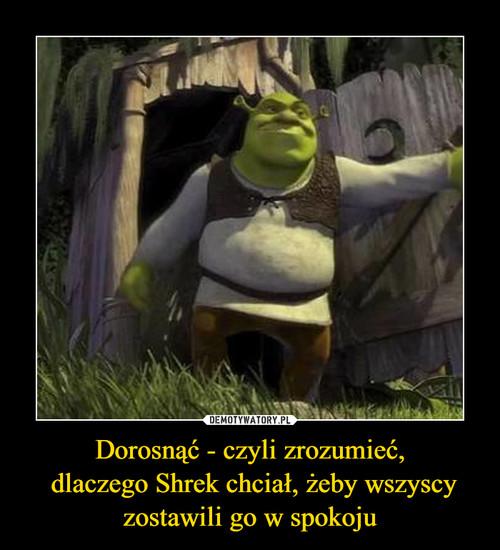 Dorosnąć - czyli zrozumieć,  dlaczego Shrek chciał, żeby wszyscy zostawili go w spokoju