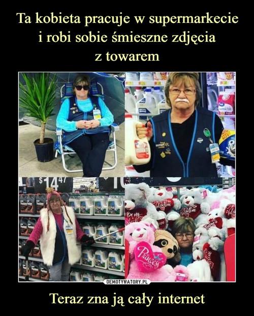 Ta kobieta pracuje w supermarkecie i robi sobie śmieszne zdjęcia z towarem Teraz zna ją cały internet