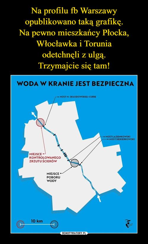 Na profilu fb Warszawy opublikowano taką grafikę. Na pewno mieszkańcy Płocka, Włocławka i Torunia odetchnęli z ulgą. Trzymajcie się tam!