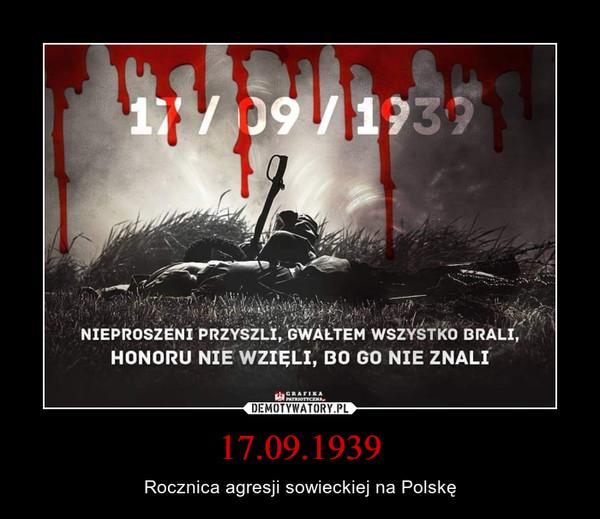 17.09.1939 – Rocznica agresji sowieckiej na Polskę