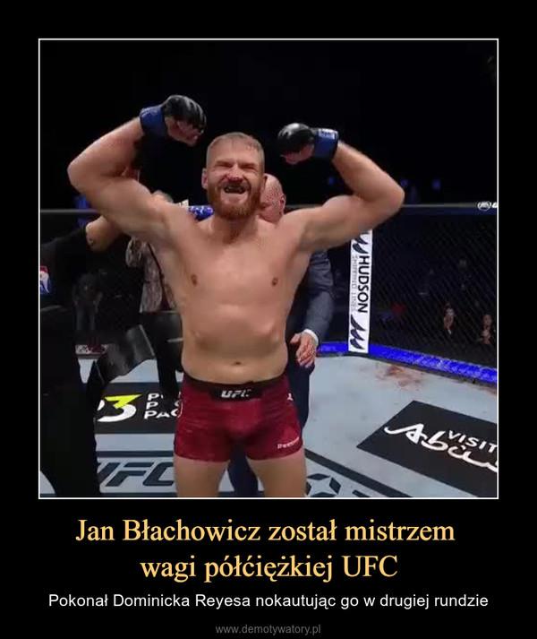 Jan Błachowicz został mistrzem wagi półćiężkiej UFC – Pokonał Dominicka Reyesa nokautując go w drugiej rundzie