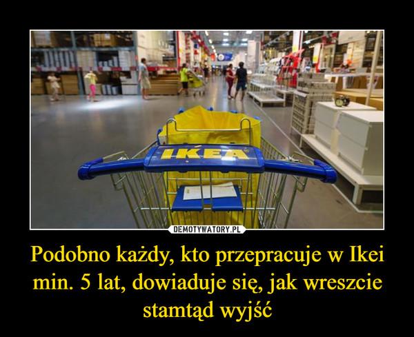 Podobno każdy, kto przepracuje w Ikei min. 5 lat, dowiaduje się, jak wreszcie stamtąd wyjść –