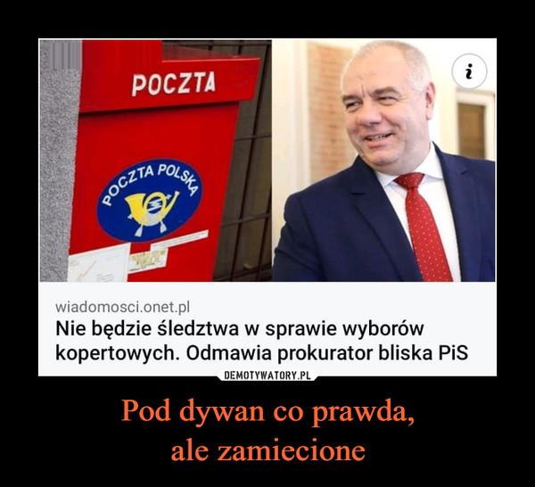 Pod dywan co prawda,ale zamiecione –  Poczta Nie będzie śledztwa w sprawie wyborów kopertowych. Odmawia prokurator bliska PiS