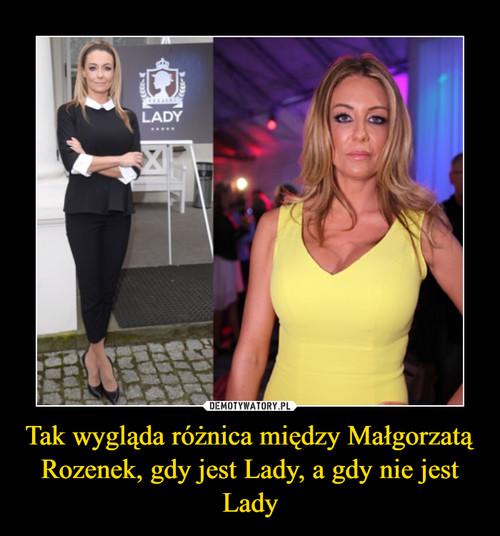 Tak wygląda różnica między Małgorzatą Rozenek, gdy jest Lady, a gdy nie jest Lady
